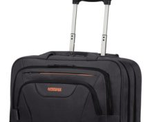 "American Tourister AT WORK ROLLING TOTE 15.6"" BLACK/ORANGE"