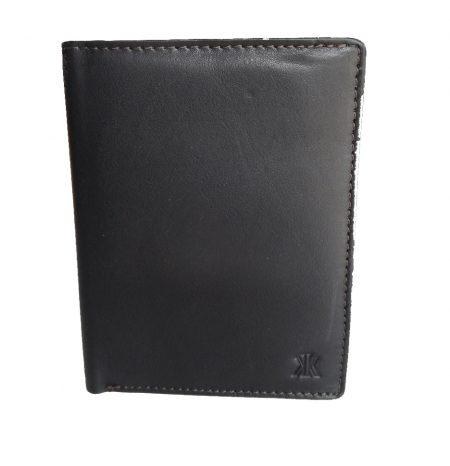 πορτοφόλι όρθιο δερμάτινο με πολλές κάρτες RFID